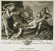 """Giuseppe PORTA """" L'enlèvement des Sabines""""  Gravure A. L ROMANET  Ed Couché 1786"""