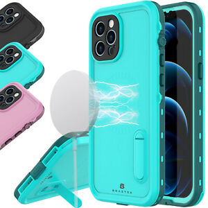 Waterproof Shockproof Case Cover For Apple iPhone 12 Pro Max 12 Mini w/Kickstand