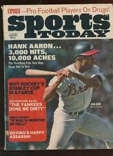 June 1970 Sports Today With Hank Aaron Front Cover EX