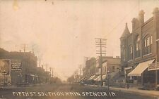 Real Photo Postcard Fifth Street South on Main Street in Spencer, Iowa~113439
