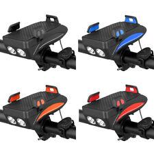 4 in 1 Fahrrad-Telefon-Halter MIT Taschenlampe/Horn/Powerbank, Verstellbare,Neu