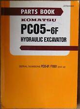 Komatsu Hydraulikbagger PC 05 - 6 F Ersatzteilkatalog