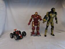 "Iron Man Walking Talking Lights 13"" Action Figure Robot + Ironman 20 Sounds + ca"