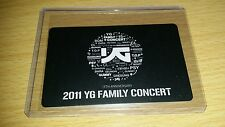 Yg family 2011 official photocard Kpop k-pop  shipped in toploader (U.S SELLER)