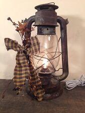 Old Rusty Metal Decorated Lantern Country Primitive  Farmhouse Decor