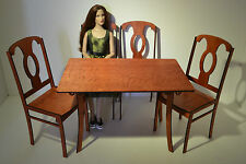 set Table + 4 chairs for Dolls 1/4 16-18in furniture Tonner BJD Antoinette Cami