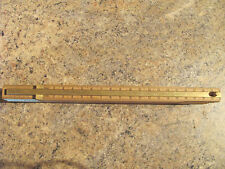 Holzgliedermaßstab mit eingebauten Messingschiebelineal 200 mm / Weiß Zollstock
