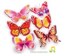 6  DEKOSTICKER  Schmetterling Sticker Wandsticker Kinderzimmer NEU