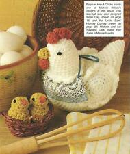 *Potpourri Chicken Hen & Chicks crochet PATTERN INSTRUCTIONS