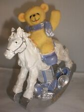 Holiday Teddy Bear Rocking Horse Baby Kids Room Decoration Gift South Beach