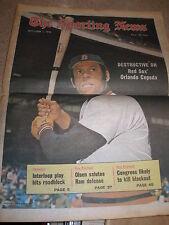 1973 The Sporting News Magazine Orlando Cepeda Boston Red Sox HOF Uncirculated