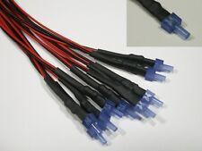 S601 - 5 pièce LED 2mm bleu Avec Câble Pour 12-19V prêt câblé LEDs tour