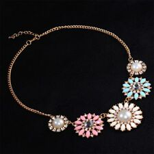 Costume Romantic Beads Daisy Jewelry Pearl Choker Sun Flower Collar Necklace