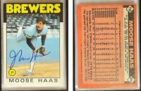Moose Haas Signed 1986 Topps #759 Card Milwaukee Brewers Auto Autograph