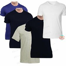 Mens t shirt 2, 3 & 5 pack lot Multi Pack Plain Basic Cotton Casual T-Shirt Top