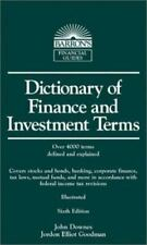 Barron's Business Dictionaries: Dictionary of Finance and Investment Terms by J…