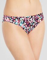LADIES BLACK FLORAL BIKINI BRIEF Figleaves Midnight Martini Just Peachy NEW