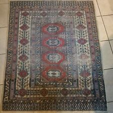 Turkish Hand-Knotted Wool Floral Area Rug 3x4 Vintage Anatolian Oriental Carpet