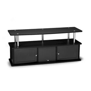 Convenience Concepts Designs2Go TV Stand with 3 Cabinets, Black - 151202