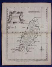 Original antique county map ISLE OF MAN, J.Ellis, c.1765