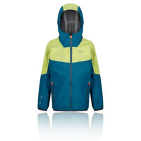 Regatta Boys Deviate II Waterproof Jacket Top Blue Green Sports Outdoors
