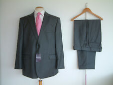 "BROOK TAVERNER EPSOM GREY PINSTRIPE SUIT..46"" x 40""..NEW WITH TAGS ..£400"