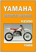 YAMAHA Workshop Manual YZ250 YZ250W VMX 1989 Maintenance Service and Repair