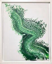 Green Dragon | Abstract original modern acrylic canvas painting by Jason Lessans