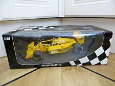 MINICHAMPS 1:18 LOTUS 99T F1 CAR. SATURO NAKAJIMA 1987. CAMEL LIVERY. MIB/BOXED.