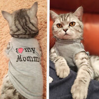 Pet Dog Cat Shirt Summer Letter Print Breathable Vest for Cats Small Dogs DB
