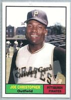 JOE CHRISTOPHER PITTSBURGH PIRATES 1961 STYLE CUSTOM MADE BASEBALL CARD BLANK