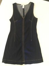 American Rag Women's Denim Dress Sleeveless Front Zipper