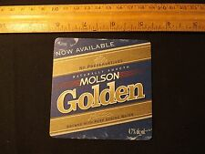 Vintage Early Molson Golden ALE Coaster. Very Popular in the 60's & 70's