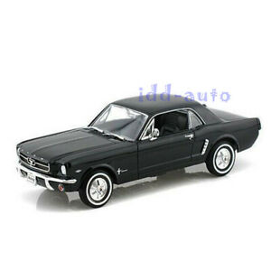 WELLY 1964 1/2 FORD MUSTANG COUPE HARD TOP BLACK 1/24-1/27 DIECAST MODEL 22451
