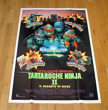 TARTARUGHE NINJA II - IL SEGRETO DI OOZE manifesto poster Turtles Arti Marziali