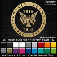 President Donald Trump Round badge seal 2016-2020 sticker decal