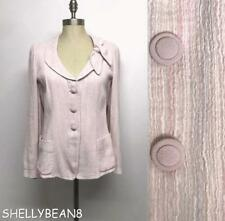 GIORGIO ARMANI COLLEZIONI Pastel PINK STRIPED Blazer Jacket BOW Collar 10 IT 46