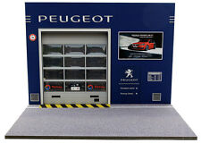 Diorama présentoir Peugeot - 1/18ème - #18-2-E-E-011