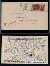 Great  Britain  Trafalgar Stamp Auction ad cover 1935        MS0828