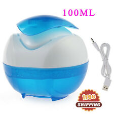 USB LED Air Humidifier Essential Oil Air Aromatherapy Purifier waterfall 100ML