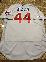 Anthony Rizzo 2019 Team Issued Chicago Cubs Jersey MLB Authentication Hologram