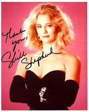 CYBILL SHEPHERD AUTOGRAPHED SIGNED 8X10 PHOTO BLACK DRESS AND GLOVES WITH COA