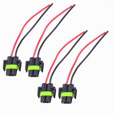 4Pcs H11 Headlight Bulb Female Wire Harness Connector Wiring Socket Adapters