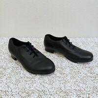 Bloch Shockwave #2 Leather Lace Up Tap Dance Shoes Heels Women's US 8 M Black