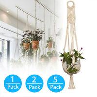 1/2/5Pack Plant Hanger Flower Pot Plant Holder Large 4 Legs Macrame Jute 36 Inch
