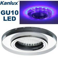 Kanlux LED Blue Tone GU10 LED Round Recessed Ceiling Downlight SpotLight Fitting