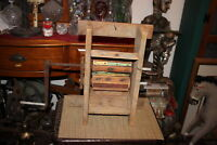 Antique Primitive Americana Country Decor Clothes Wringer Fruit Crusher Handmade