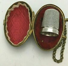 Victorian Sterling Silver Egg Cased Sewing Thimble 1896