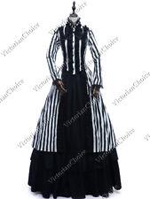 Gothic Victorian Steampunk Dress Women Beetlejuice Halloween Costume Witch 175