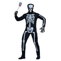 Men's Skeleton Bodysuit Adults Halloween Fancy Dress Jumpsuit Costume